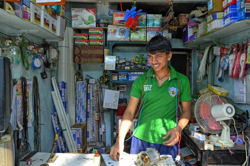 Commercial establishment in informal settlement in Mumbai, 2013 (Photo by R.R.)